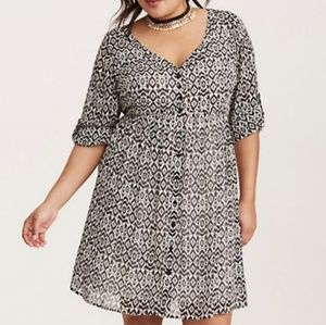 Torrid Chiffon Shirtdress